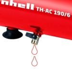 Einhell Kompressor TH-AC 190/6 OF (1,1 kW, 6 L, Ansaugleistung 185 l / min, 8 bar, ölfrei, tragbar) -